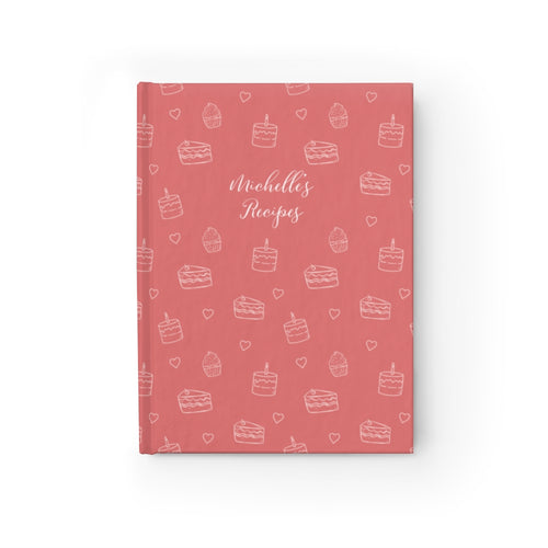 Dusty Pink Cake Print Personalized Journal - Ruled Line-Paper products-Cheery Toppers