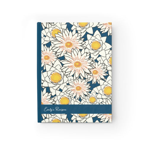 Flower Personalized Recipe Journal - Ruled Line-Paper products-Cheery Toppers
