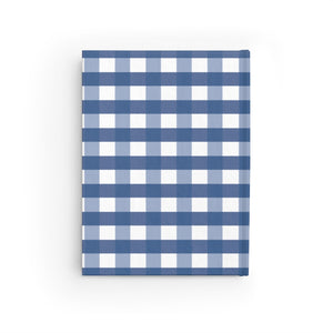 Blue Gingahm Pattern Personalized Journal - Ruled Line-Paper products-Cheery Toppers