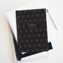 Load image into Gallery viewer, Flower Pattern Personalized Recipe Journal - Ruled Line-Paper products-Cheery Toppers