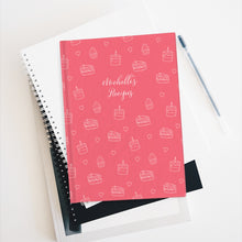 Load image into Gallery viewer, Pink Cake Print Personalized Recipe Journal - Ruled Line