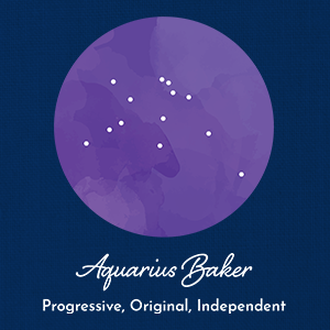 Aquarius Baker - Constellation Adjustable Apron