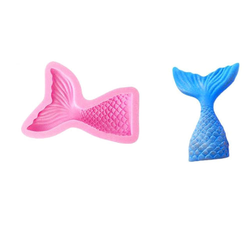 Mermaid Tail Chocolate Mold (Large)-mermaid-Cheery Toppers