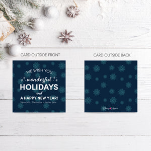 Holiday Snowflake Cupcake Toppers + Card Set - DIGITAL FILE-Multi-Purpose-Cheery Toppers