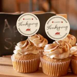 Thanksgiving Turkey Cake and Cupcake Topper Set - DIGITAL FILE