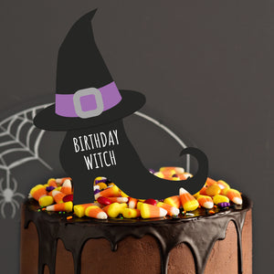 """Birthday Witch"" Cake and Cupcake Topper Set - DIGITAL FILE"