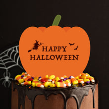 "Load image into Gallery viewer, ""Happy Halloween"" Pumpkin Cake and Cupcake Topper Set - DIGITAL FILE"