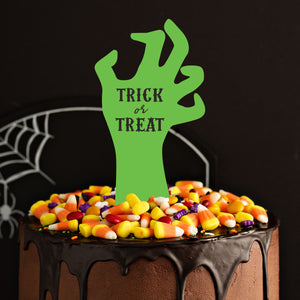 """Trick Or Treat"" Zombie Hand Cake and Cupcake Topper Set - DIGITAL FILE"