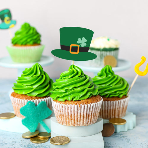 St. Patrick's Day Lucky Leprechaun Hats Cake & Cupcake Toppers - DIGITAL FILE