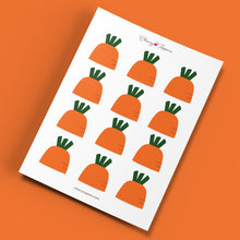 Load image into Gallery viewer, Spring Garden Carrot Cupcake Toppers (FREE) - DIGITAL FILE
