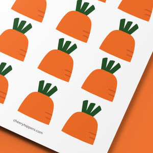 Spring Garden Carrot Cupcake Toppers (FREE) - DIGITAL FILE