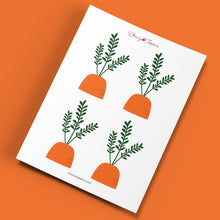 Load image into Gallery viewer, Spring Garden Carrot Cupcake Toppers (Medium) - DIGITAL FILE