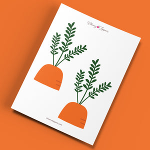 Spring Garden Carrot Cupcake Toppers (Large) - DIGITAL FILE