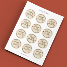 "Load image into Gallery viewer, ""Happy Birthday"" Fall Cake and Cupcake Topper Set - DIGITAL FILE"