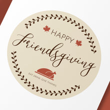 "Load image into Gallery viewer, ""Happy Friendsgiving"" Cake and Cupcake Topper Set - DIGITAL FILE"