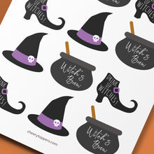 "Load image into Gallery viewer, ""Birthday Witch"" Cake and Cupcake Topper Set - DIGITAL FILE"