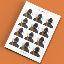 Load image into Gallery viewer, Grim Reaper Halloween Cupcake Toppers - DIGITAL FILE