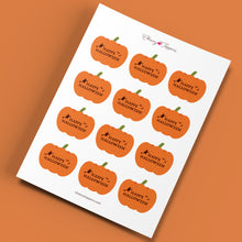 "Load image into Gallery viewer, ""Happy Halloween"" Pumpkin Cupcake Toppers - DIGITAL FILE"