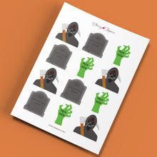 Load image into Gallery viewer, Grim Reaper Cake and Cupcake Topper Set - DIGITAL FILE