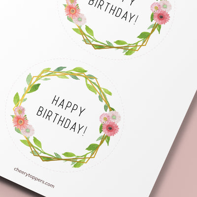Printable Birthday Cake Toppers Cheery Toppers