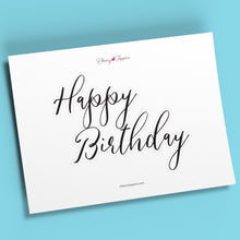 "Load image into Gallery viewer, Outlined ""Happy Birthday"" Cake Topper - DIGITAL FILE"