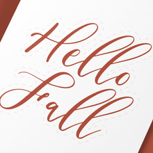 "Load image into Gallery viewer, ""Hello Fall"" Cake Topper - DIGITAL FILE"