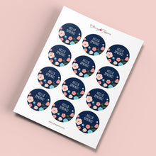 "Load image into Gallery viewer, ""Hello Spring!"" Cute Floral Cupcake Toppers - DIGITAL FILE-Cheery Toppers"