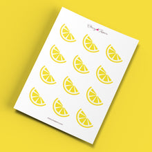Load image into Gallery viewer, Fresh Lemon Wedge Cupcake Toppers - DIGITAL FILE