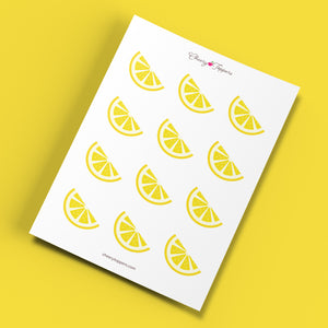 Fresh Lemon Wedge Cupcake Toppers - DIGITAL FILE