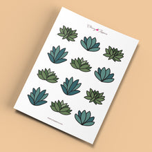 Load image into Gallery viewer, Cute Succulent Cupcake Toppers - DIGITAL FILE