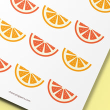 Load image into Gallery viewer, Mixed Juicy Summer Oranges Cupcake Toppers  - DIGITAL FILE