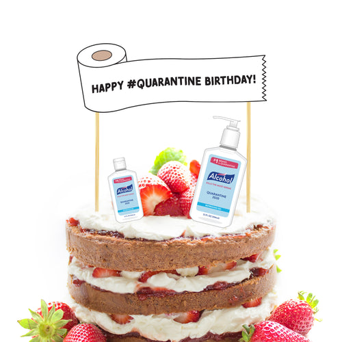 Quarantine Birthday Cake and Cupcake Toppers - DIGITAL FILE