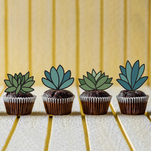 Cute Succulent Cupcake Toppers - DIGITAL FILE