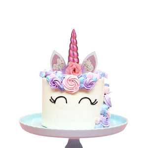 Create Your Unicorn Cake Topper (Pink)-unicorn, unicorn baby shower-Cheery Toppers