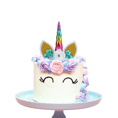 Create Your Unicorn Cake Topper (Rainbow)-unicorn, unicorn baby shower-Cheery Toppers