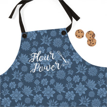 Load image into Gallery viewer, Blue Flour Power Apron
