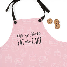 "Load image into Gallery viewer, ""Life is Short, Eat the Cake"" Apron"