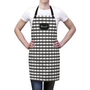 Black Gingham Personalized Apron