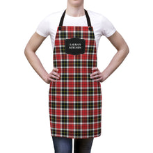 Load image into Gallery viewer, Red and Black Plaid Personalized Apron