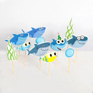 Baby Shark Family Cake Toppers-Shark-Cheery Toppers