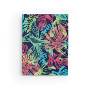 Neon Tropical Print Personalized Recipe Journal - Ruled Line-Paper products-Cheery Toppers