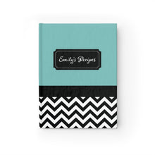 Load image into Gallery viewer, Chevron Pattern Personalized Journal - Ruled Line