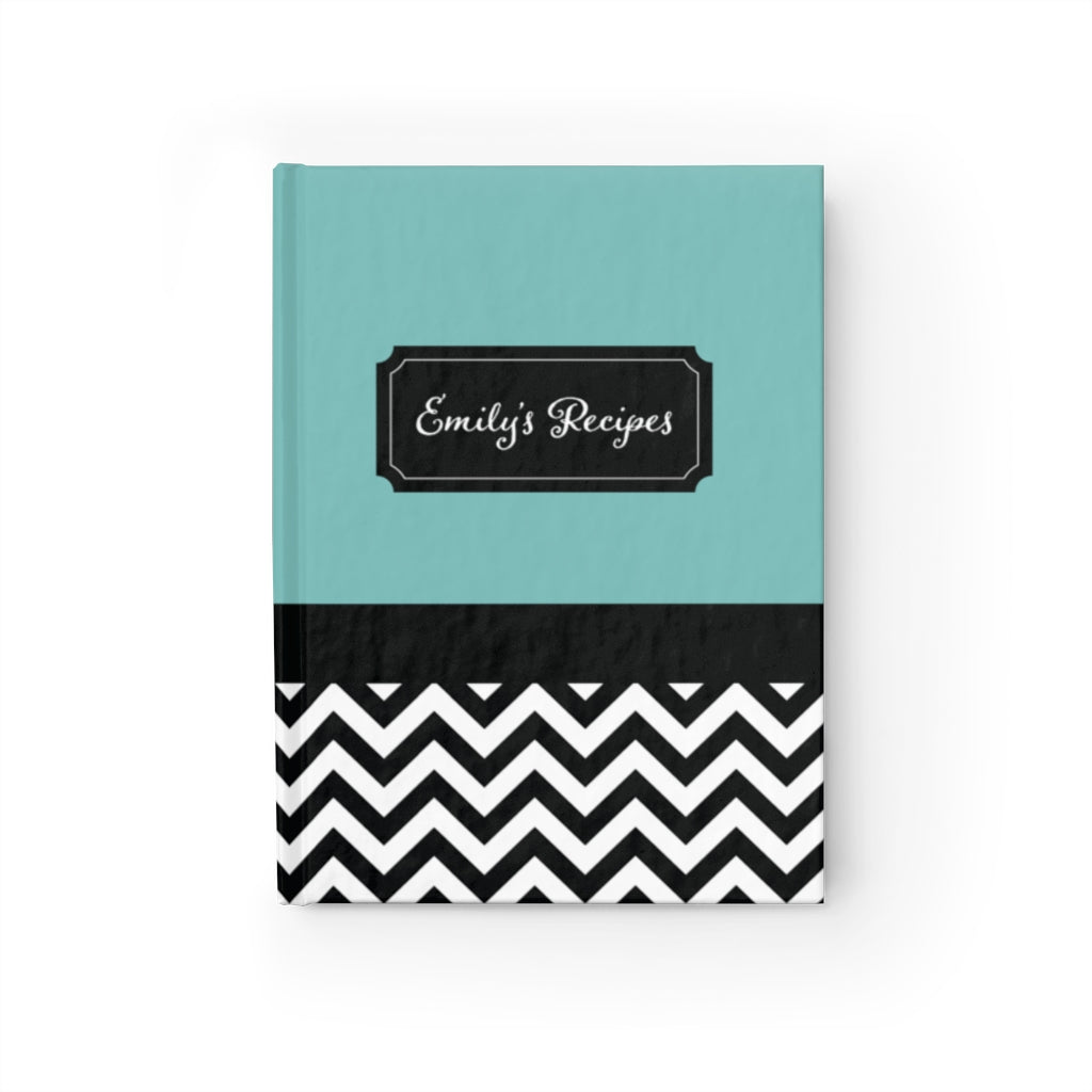 Chevron Pattern Personalized Journal - Ruled Line-Paper products-Cheery Toppers