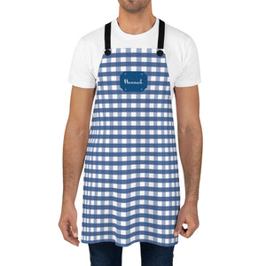 Blue Gingham Personalized Apron-Accessories-Cheery Toppers