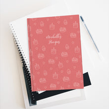 Load image into Gallery viewer, Dusty Pink Cake Print Personalized Journal - Ruled Line