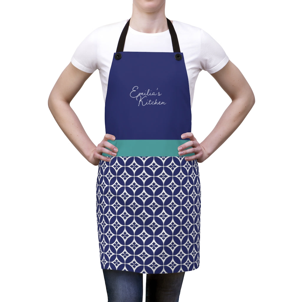 Greek Tile Personalized Apron-Accessories-Cheery Toppers