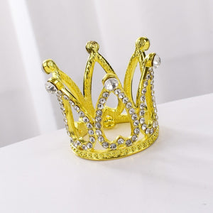 Elegant Princess Crown (Gold)-Bat Mitzvah, Princess, Princess Baby Shower, Quinceanera, Sweet Sixteen-Cheery Toppers