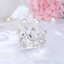 Load image into Gallery viewer, Classic Princess Crown (Silver or Gold)-Bat Mitzvah, Princess, Princess Baby Shower, Quinceanera, Sweet Sixteen-Silver-Cheery Toppers