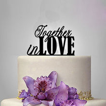 "Load image into Gallery viewer, Sweet ""Together In Love"" Wedding Cake Topper (maryam)-Bridal Shower, Valentines-Cheery Toppers"