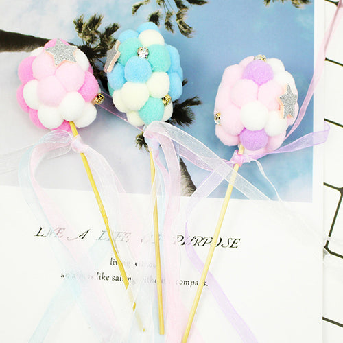 Pompom Balloon Cake Topper-blue baby shower, pink baby shower, Princess, Princess Baby Shower, princess birthday, unicorn, unicorn baby shower, unicorn birthday-Pink-Cheery Toppers